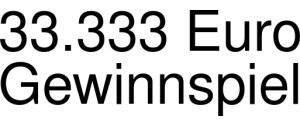 33.333 Euro Gewinnspiel Logo