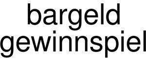 Bargeld Gewinnspiel Logo