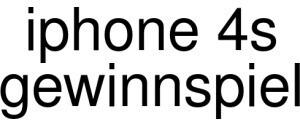 Iphone 4s Gewinnspiel Logo